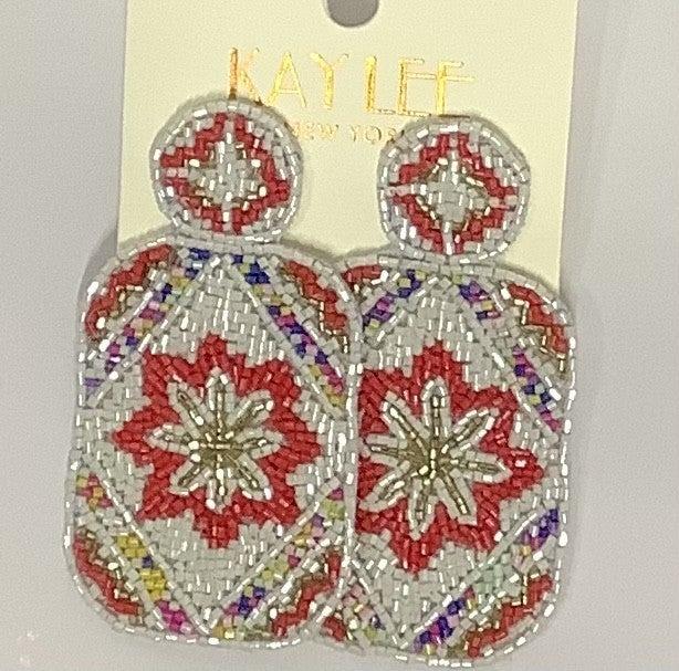 Lilly Inspired Beaded Earrings