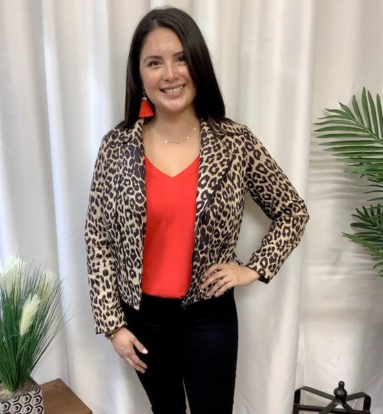 Leopard Zip Jacket