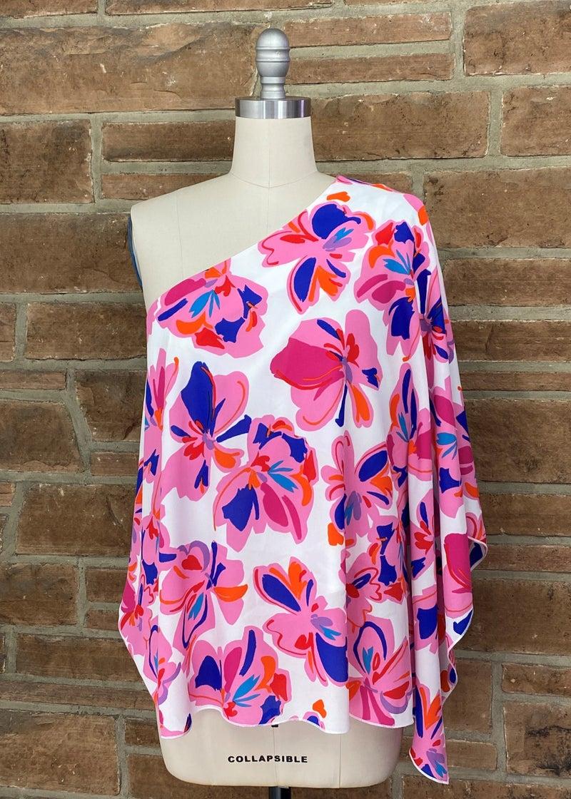 Floral One Shoulder Top *Final Sale*