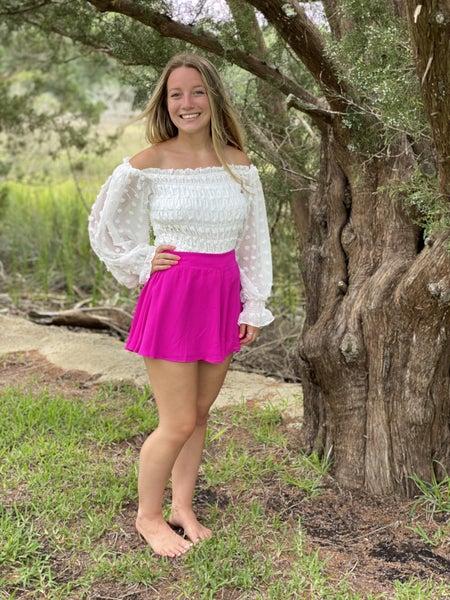 Neon Berry Swing Shorts