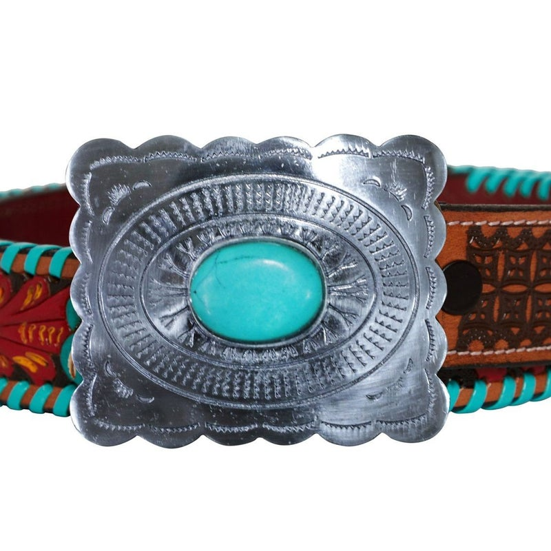 Tropical Forest Hand Tooled Belt