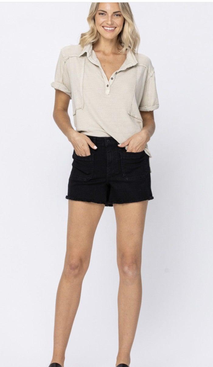 Black Judy Blue Shorts