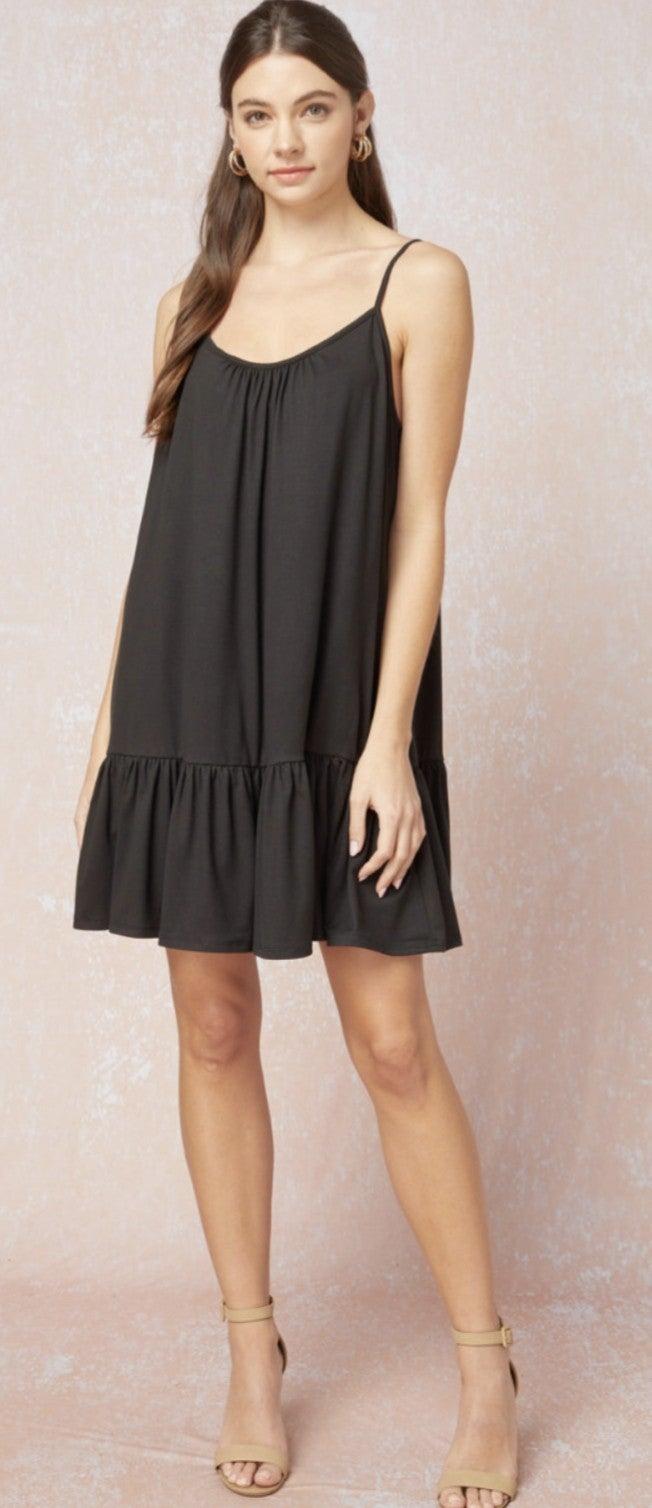 Slip Into The Night Black Dress