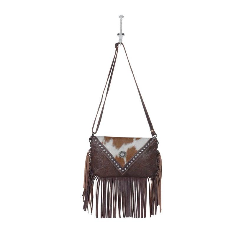 Dusky Tones Leather Hairon Bag