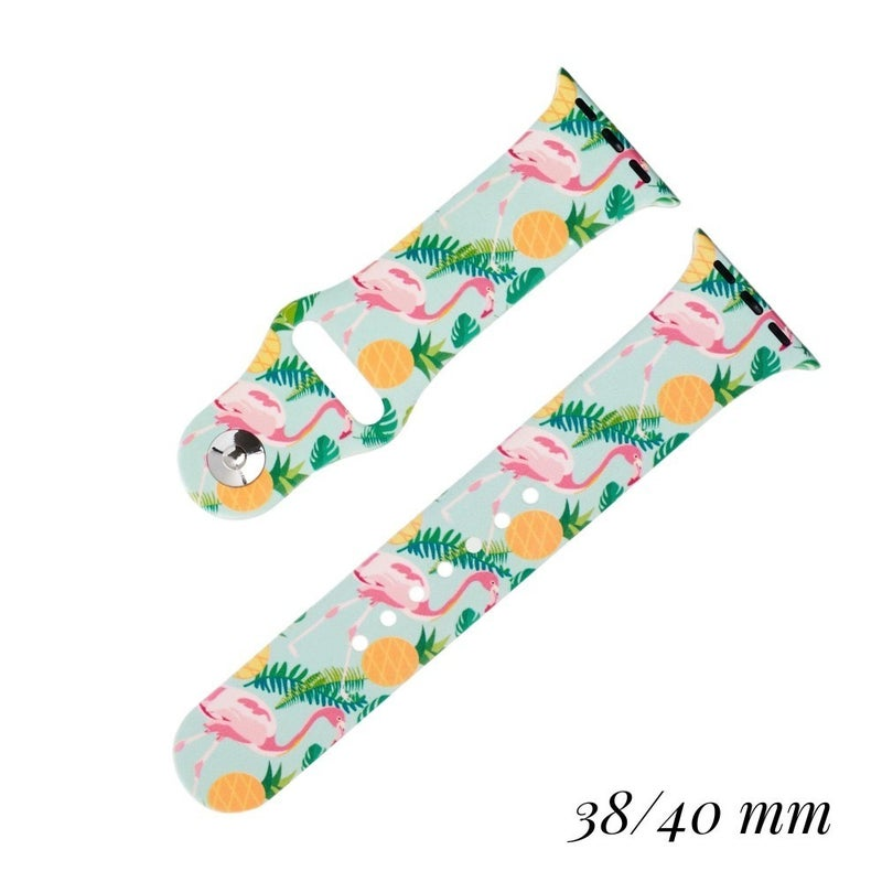 Silicone Printed Smart Watch Band Fits 38mm/ 40mm