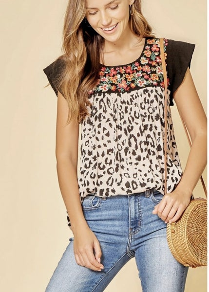 All About Me Leopard Top