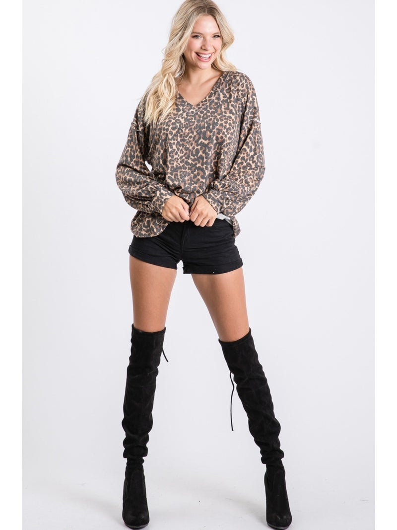 Spot The Difference Leopard Top *Final Sale*