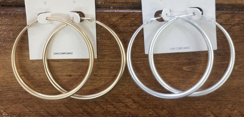 Matte Hoop Earrings