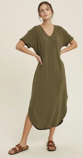 Never Basic Midi Solid Dress