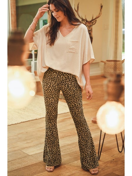 Perfect In Leopard Flare Pant