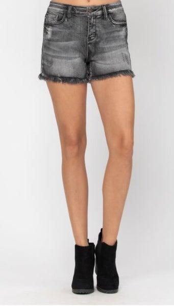 Judy Blue Black Distress Shorts