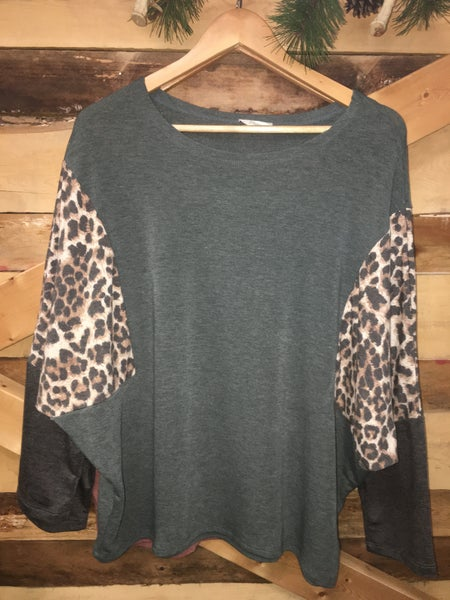 Forget The Rest Animal Print  Blouse *Final Sale*