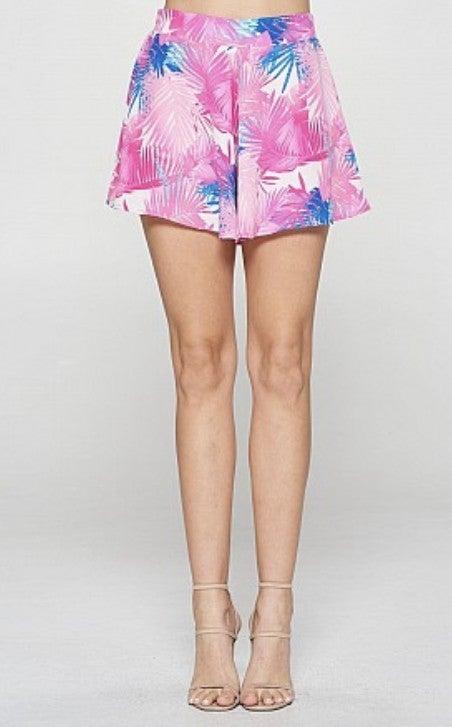 Tropical Swing Shorts Fuchsia *Final Sale*