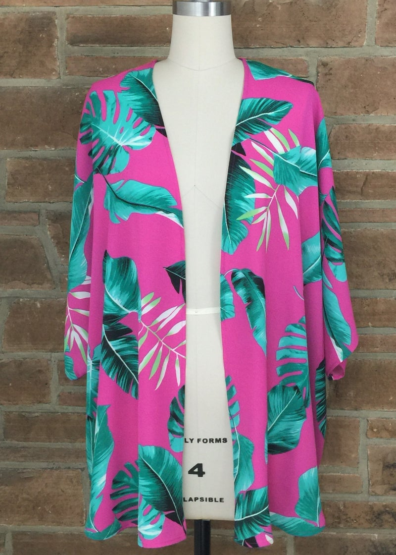 Tropical Dolman Sleeve Oversized kimono *Final Sale*