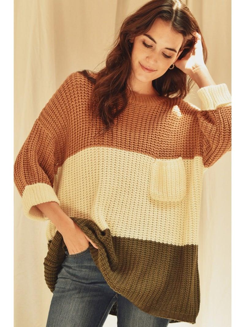 Knit ColorBlock Sweater