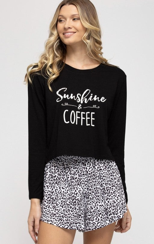 Sunshine & Coffee Pj set