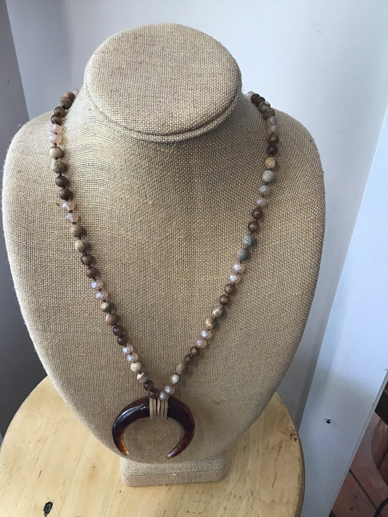 Horn Long Necklace
