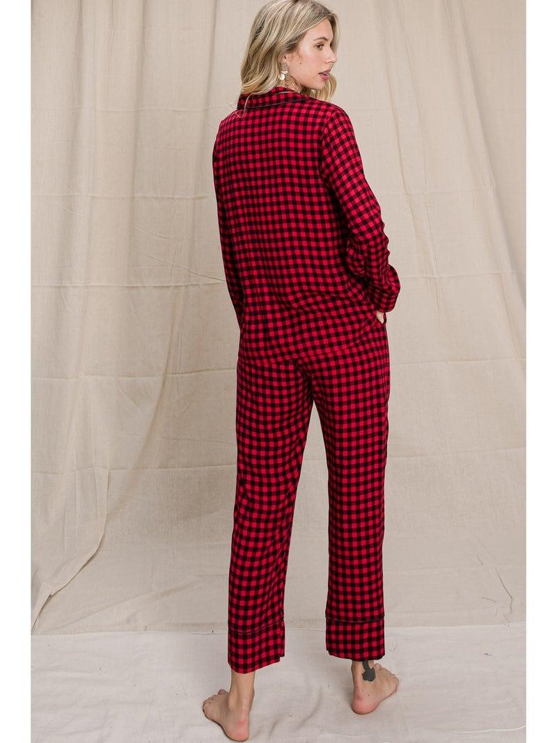 Red & Black Checkered PJ Set