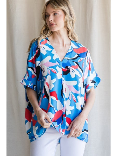 Abstract Floral Top Ocean Mix