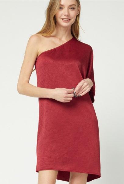 Just A Little Chic One Shoulder Dress