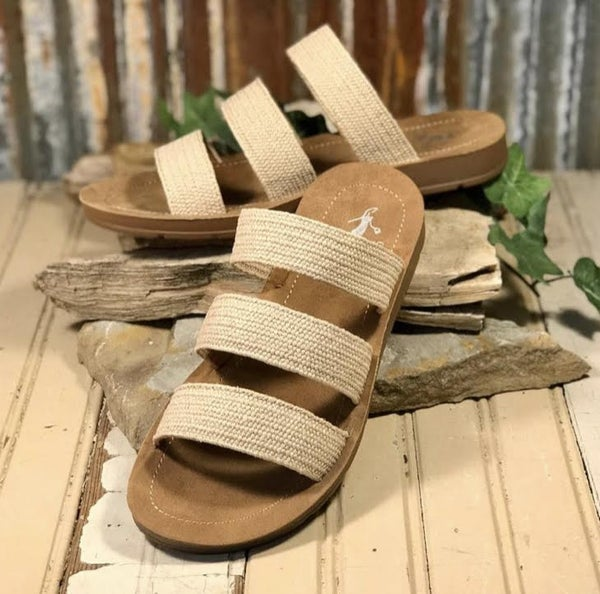 Corkys Natural Braided Sandal *Final Sale*