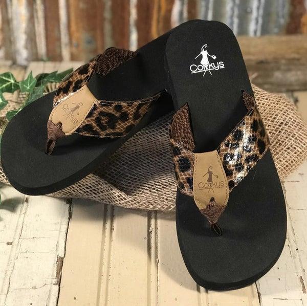 Corky's Leopard Flip Flop *Final Sale*