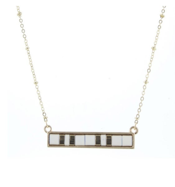 "Jane Marie Bar Necklace 16"""