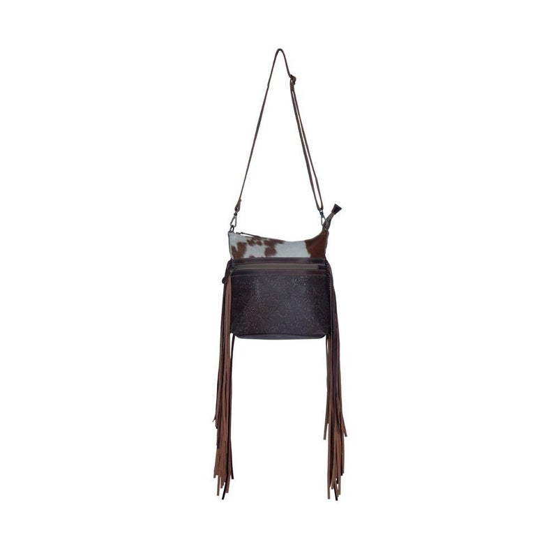 Tanned Leather & Hairon Bag