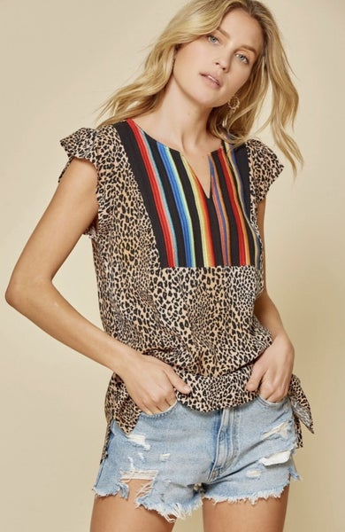 Perfect Choice Leopard Top -