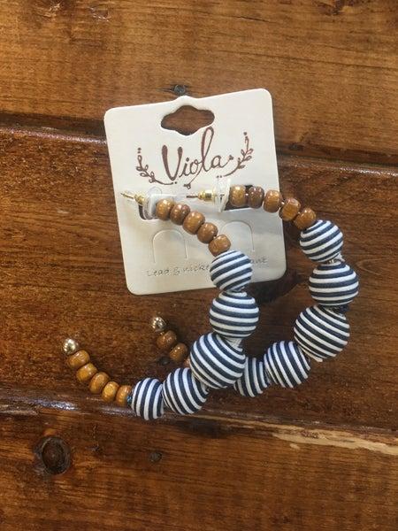 Striped Hoop Earrings