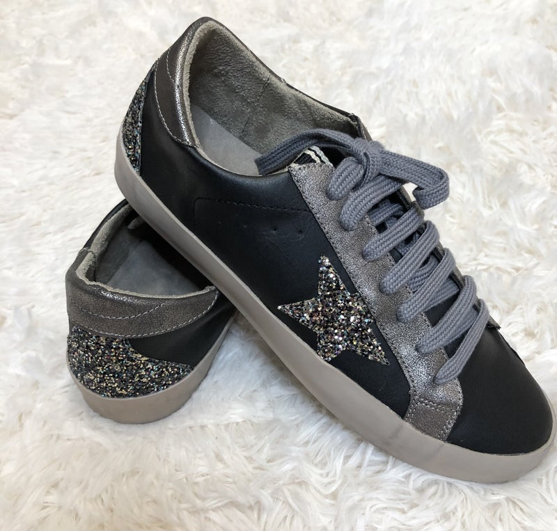 Black Glitter Perry Sneaker