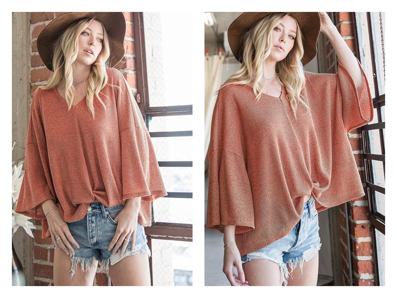 Twist Front Dolman Sleeve Sweater