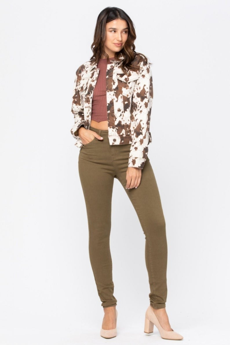 Oh Judy Cow Print Jacket