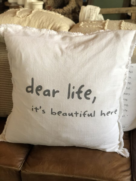 """DEAR LIFE"" Pillow"