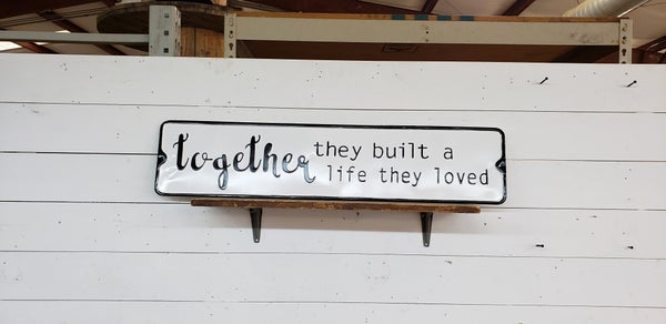 Together Enamel Sign