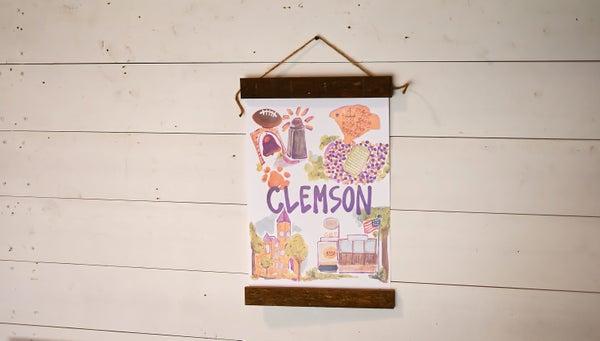 Clemson, SC Wall Hanging