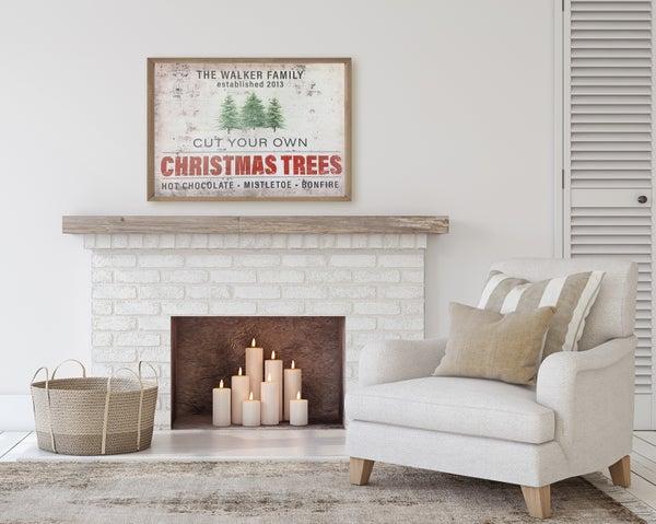 Custom Tree Farm Christmas Sign