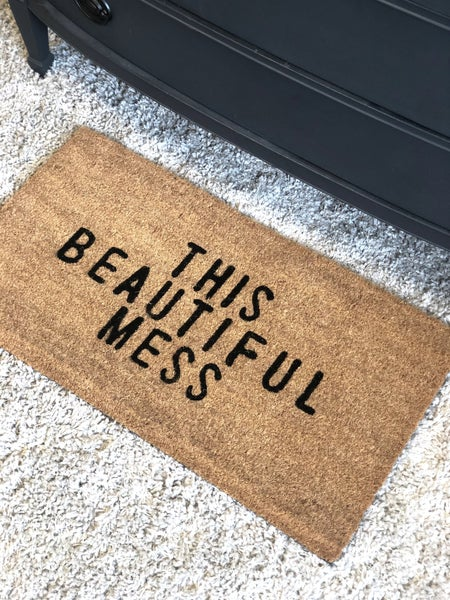 This Beautiful Mess Door Mat