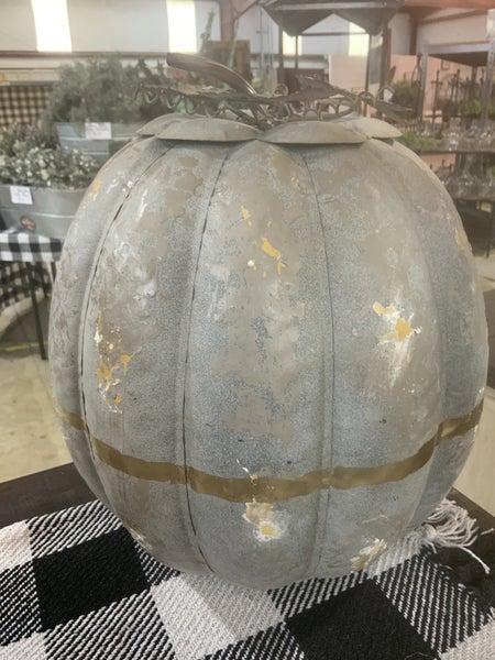 Zinc Pumpkin w/Gold Accents