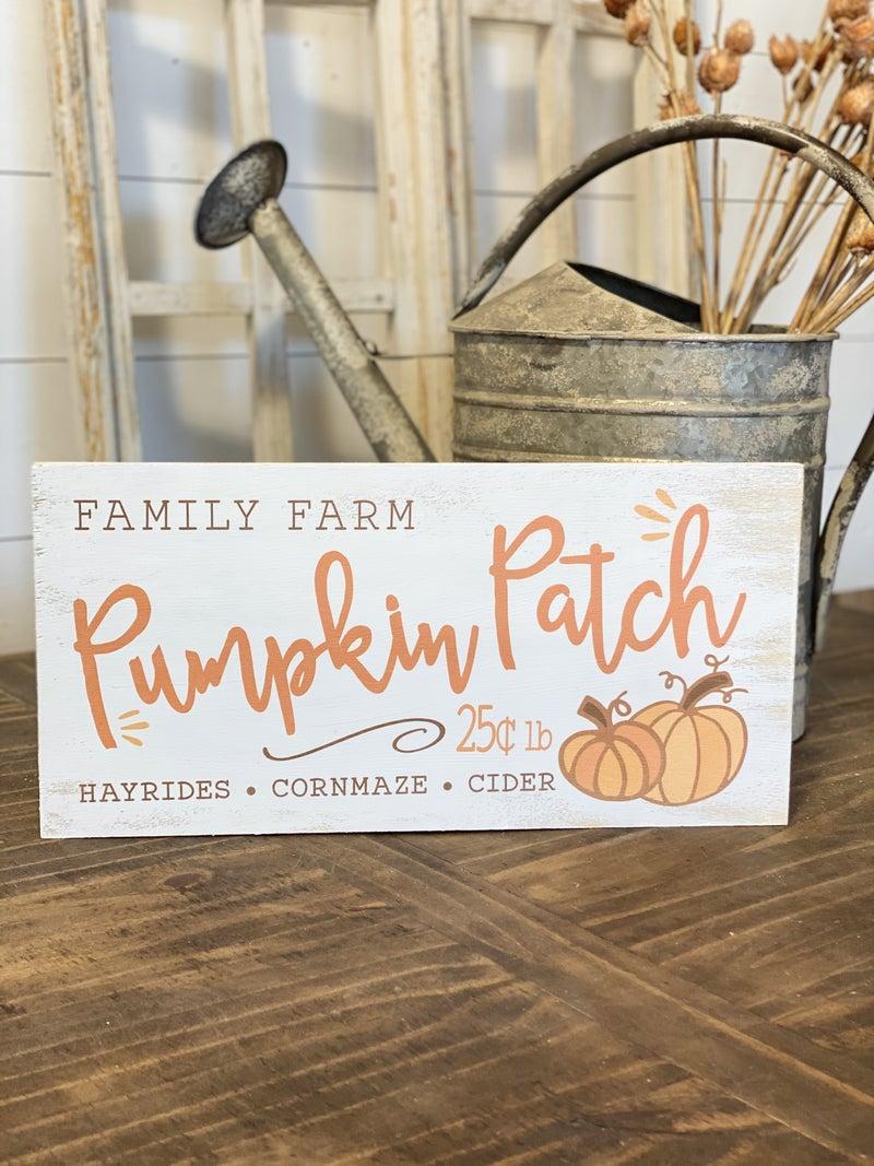 Pumpkin Patch 8x16 Sign