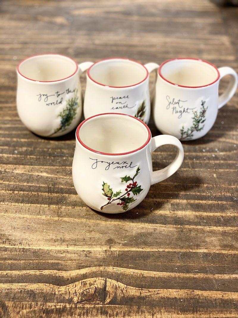 Ceramic Woodsy Christmas Mugs