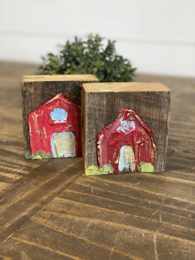 Chunky Wood Block-Barn