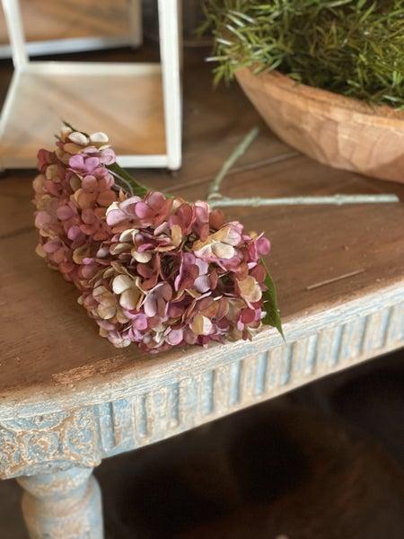 Antique Plum Hydrangea Pick, Pair