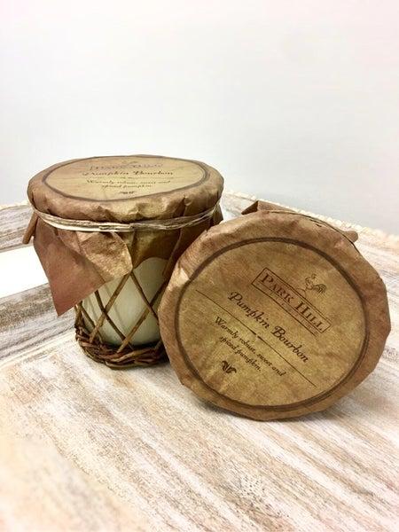 Wicker Pumpkin Bourbon Candle