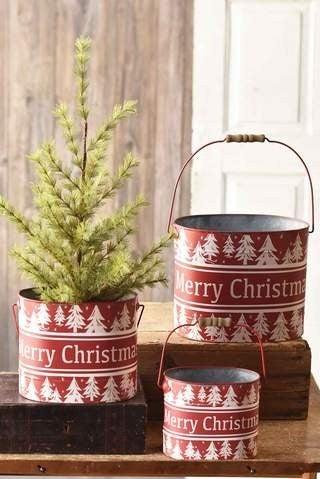 Merry Christmas Buckets