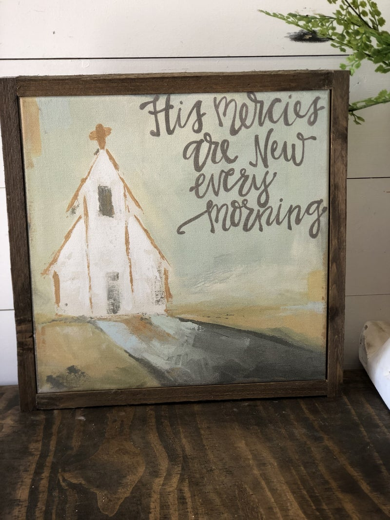 """""""His Mercies are new every morning"""" Framed Canvas"""