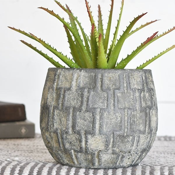 CHECK STONEWASH PLANTER