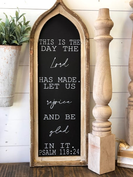 """This Is The Day The Lord Has Made"" Scripture Window"