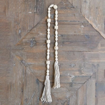 """40"""" NAT. BEADS WITH TASSLE"""