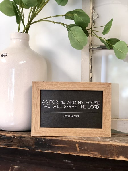 As For Me and My House Frame